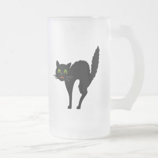 Scaredy Cat Frosted Halloween Beer Mug