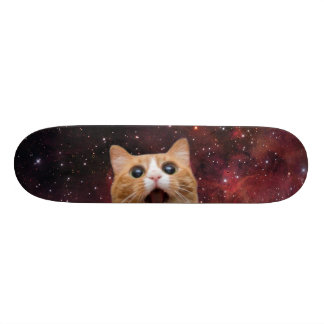 scaredy cat in space 20 cm skateboard deck