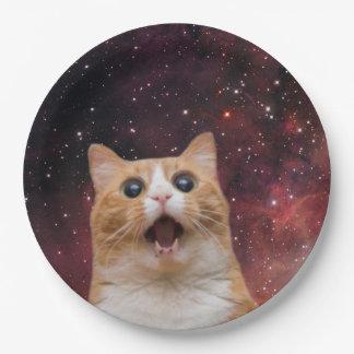 scaredy cat in space 9 inch paper plate