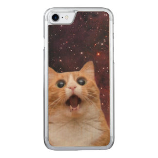 scaredy cat in space carved iPhone 8/7 case