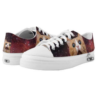 scaredy cat in space printed shoes