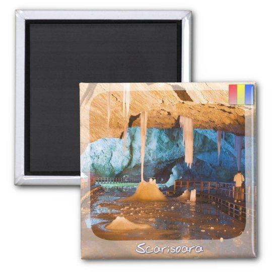 Scarisoara Cave Square Magnet