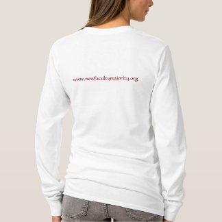 Scarlet Adjunct with NFM URL on back T-Shirt
