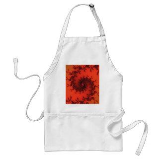 Scarlet and black spiral fractal. standard apron