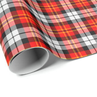 Scarlet and Black Sporty Plaid Wrapping Paper
