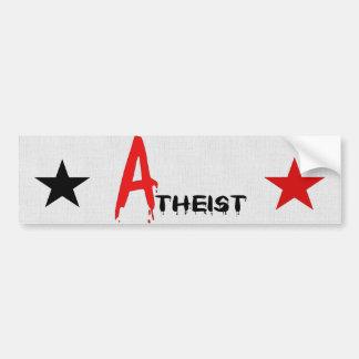 Scarlet Atheist Car Bumper Sticker