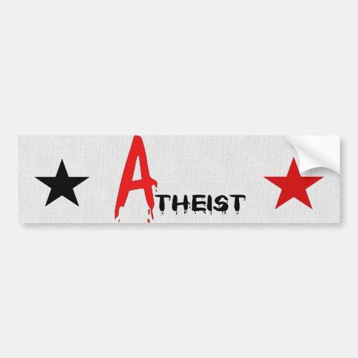 Scarlet Atheist Bumper Sticker