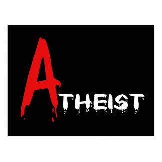 Scarlet Atheist Postcard