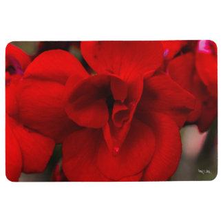 Scarlet Begonias Floor Mat