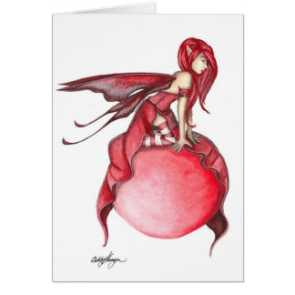 Scarlet Bubble Fairy Greeting Card