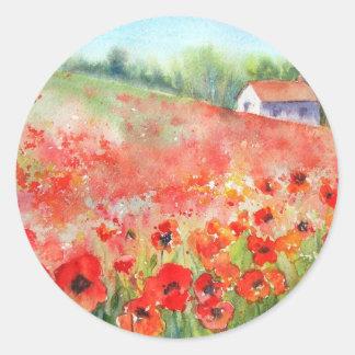 Scarlet Carpet Round Sticker