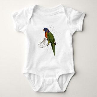 Scarlet-Collared Parrakeet by Edward Lear Baby Bodysuit