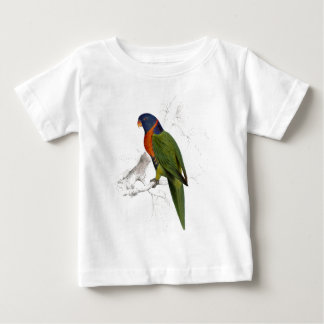Scarlet-Collared Parrakeet by Edward Lear Baby T-Shirt