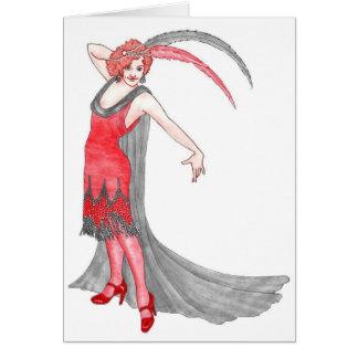 Scarlet Flapper Card