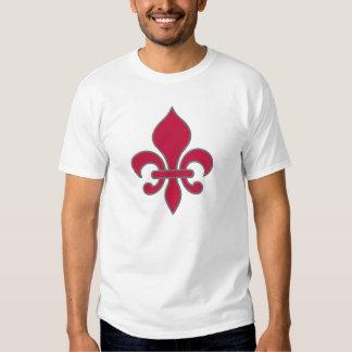 Scarlet & Grey Fleur Design T-shirt