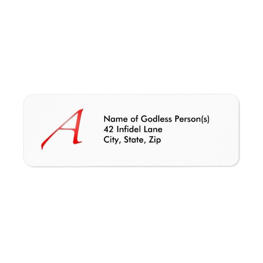 "Scarlet Letter ""A"" Address Labels"
