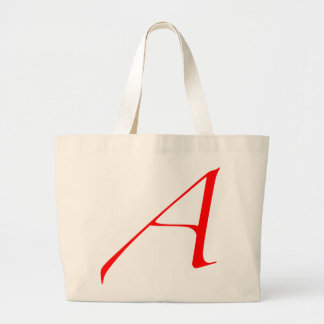 Scarlet letter A (for Atheist) Jumbo Tote Bag