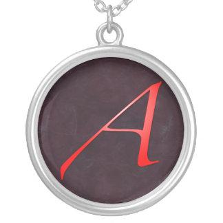 """Scarlet Letter """"A"""" Pendant Necklace"""