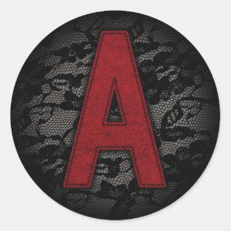 Scarlet Letter A Round Sticker