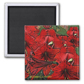 'Scarlet Lilies' Magnet