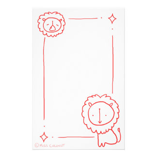 Scarlet Lions Stationery
