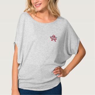 Scarlet Lotus pocket logo on light shirts