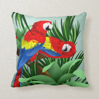 Scarlet Macaw Art Cushion