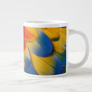 Scarlet Macaw Covert Feathers Large Coffee Mug