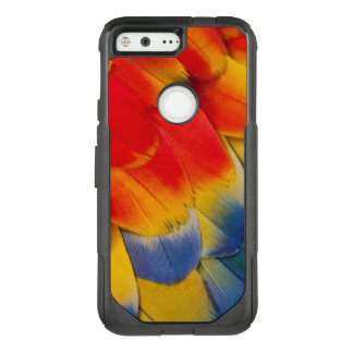Scarlet Macaw Covert Feathers OtterBox Commuter Google Pixel Case
