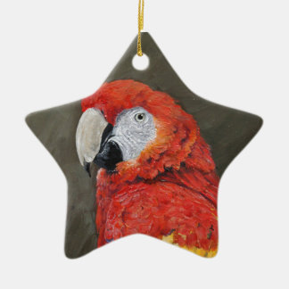 Scarlet Macaw created for you Christmas Ornament