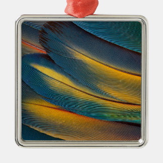 Scarlet Macaw feather close up Christmas Ornament