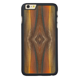 Scarlet Macaw feather design Carved Maple iPhone 6 Plus Case