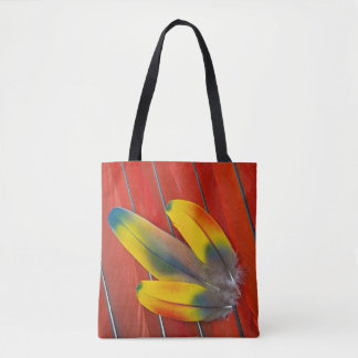 Scarlet Macaw Feather Still Life Tote Bag