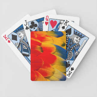 Scarlet Macaw Feathers Bicycle Playing Cards