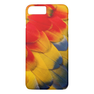 Scarlet Macaw feathers close-up iPhone 8 Plus/7 Plus Case