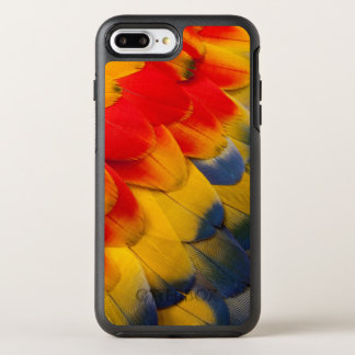 Scarlet Macaw feathers close-up OtterBox Symmetry iPhone 7 Plus Case