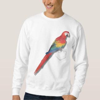 Scarlet macaw In Your Pocket Sweatshirt