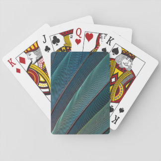 Scarlet macaw parrot feather playing cards