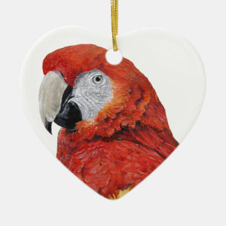 Scarlet Macaw Parrot gifts Christmas Ornament