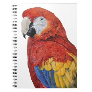 Scarlet Macaw Parrot gifts Notebooks