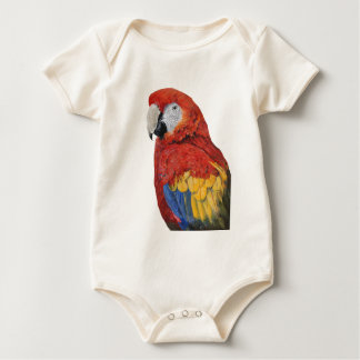 Scarlet Macaw portrait design Baby Bodysuit
