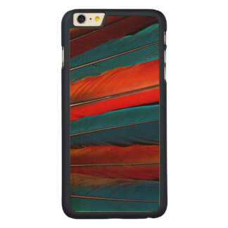 Scarlet Macaw Tail Feathers Carved Maple iPhone 6 Plus Case
