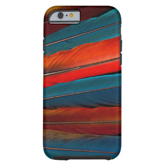 Scarlet Macaw Tail Feathers Tough iPhone 6 Case