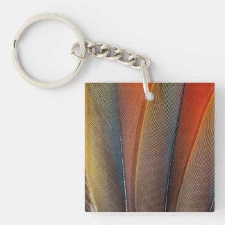 Scarlet Macaw Wing Detail Key Ring