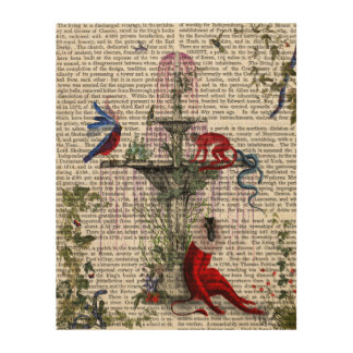 Scarlet Monkey Wood Wall Decor