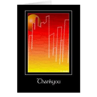 Scarlet Night Thankyou Greeting Card