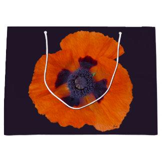 Scarlet Orange Poppy 1 LG Large Gift Bag