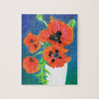 Scarlet Poppies Jigsaw Puzzle