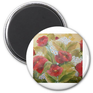 SCARLET POPPIES MAGNETS