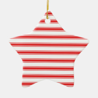 Scarlet Red and White Stripes; Striped Ornament